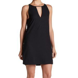 Parker Black Riviera Lace Up Cocktail Dress Small